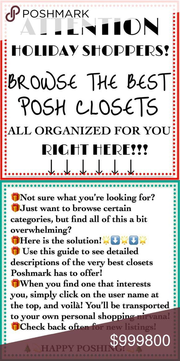 ❗️NO COMMENT HERE PLS🙏 🎄SHOP POSH!🎄💫 ‼️DO NOT COMMENT, TAG, POST, CHAT, OR ADD ANYTHING AT ALL TO THIS LISTING‼️   ‼️Be sure to LIKE this listing & SHARE OFTEN!‼️  ❣️If you want to tag your PFFs, if you have questions, need anything modified, or if you'd like your closet to be listed here, PLEASE USE LISTING NEXT DOOR ➡️ ❣️If you have questions for the seller, please contact them directly somewhere in their closet (or just not here!) 💜I AM STILL WORKING ON LISTINGS — This is a work in…