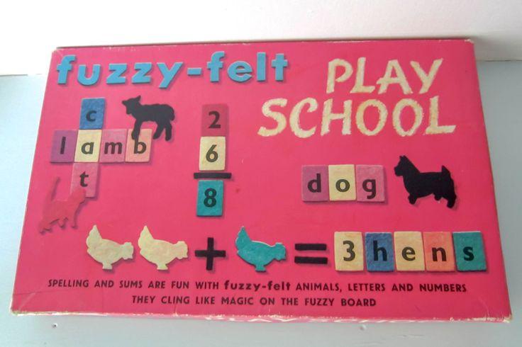 Fuzzy felt, vintage 1970s fuzzy felt, Play school fuzzy felt, vintage childrens toy, retro toy. by thevintagemagpie01 on Etsy