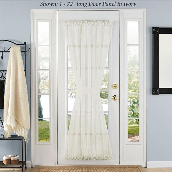 Elegance Sheer Voile Door Panel Small Window Curtains Curtains