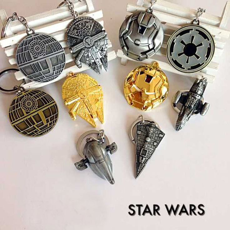 Star Wars 7 Pesawat Ruang Angkasa kapal perang keychain mainan 2016 Kekuatan Baru Membangkitkan Millennium Falcon/Imperial Star Destroyer mainan figura