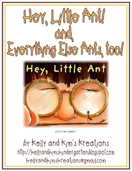These ant-themed activities will keep your students engaged and excited all day after reading Hey, Little Ant! (Written by Phillip and Hannah Hoose. Illustrated by Debbie Tilley.). Reading, writing, speaking, listening, math, and science activities are included in this listing! Wow! Have fun with Everything Ants, but don't let them in your pants!