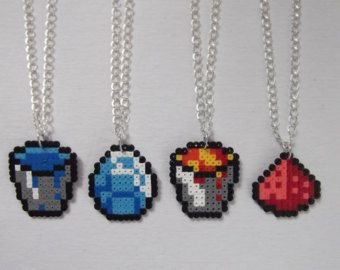 Minecraft items and tools necklaces.