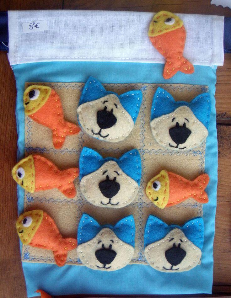 jogo 3 em linha gatos e peixes