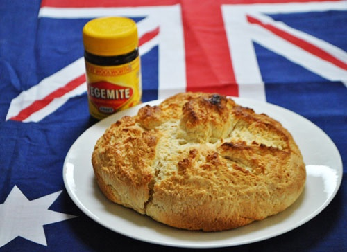 Damper and Vegemite....yum