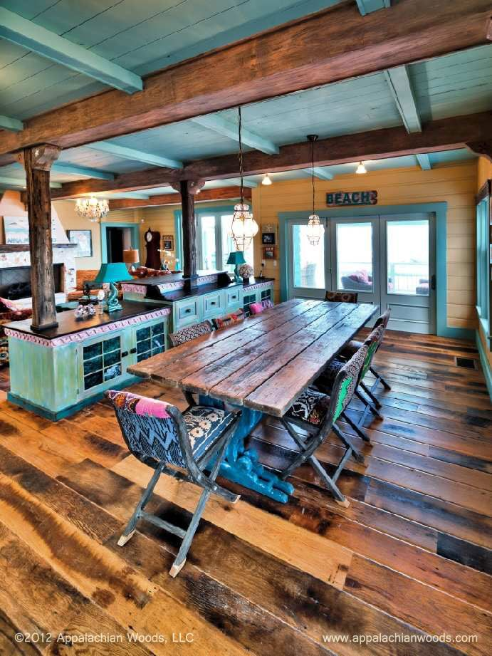 11 best images about antique barn board oak with worn edge for Beach house flooring