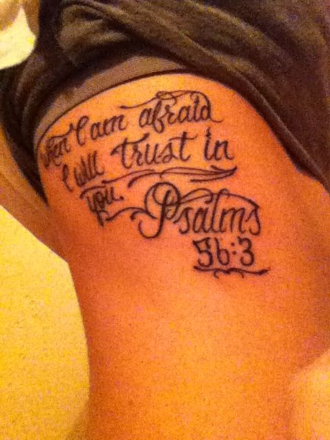 My bible verse quote tattoo on ribs tattoos for Scriptures on tattoos in the bible