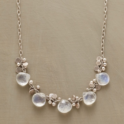 Moonstone rain necklace