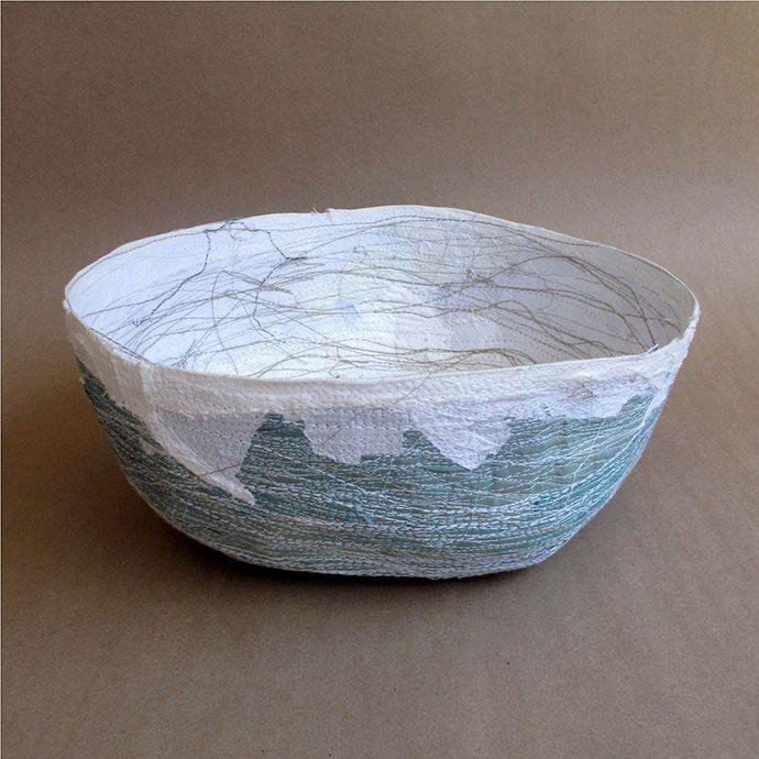 Pretoria designer Christa Badenhorst uses recycled textiles to create unique vessels that form part of her Smeul range