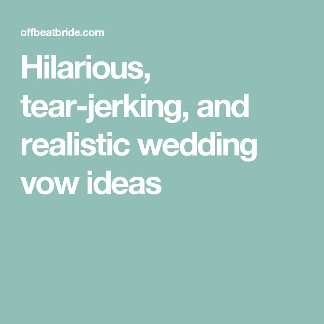 how to write funny wedding vows