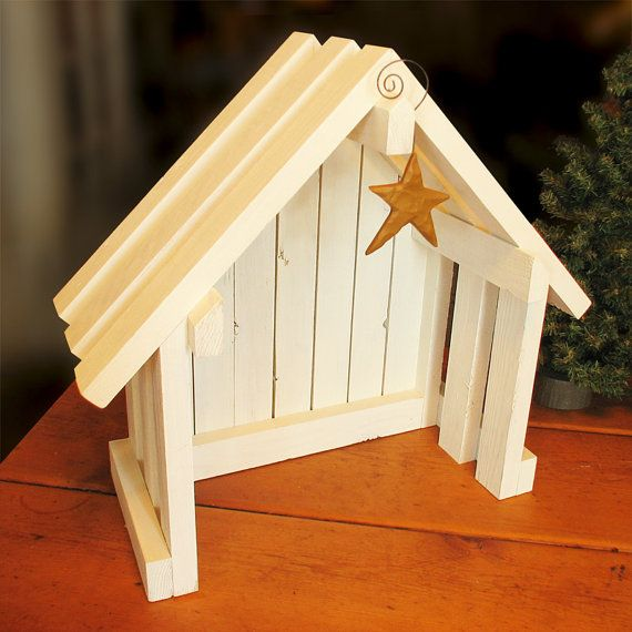 Nativity Creche Stable for Willow Tree by SilverHollyLLC on Etsy