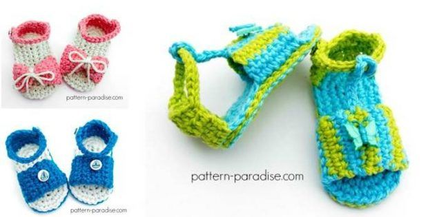 7d9e6d13a4b971 25+ best ideas about Crocheted baby sandals on Pinterest ... ➤. Cc21b  Classic Crochet Baby Sandals Pattern ...