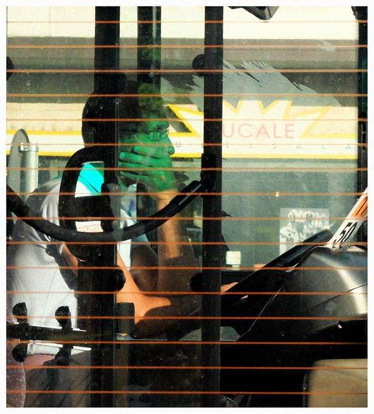 green bus driver