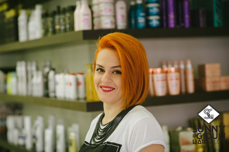 Dimitra, member of our hair salon team!  Photo: Christos Mavraganis