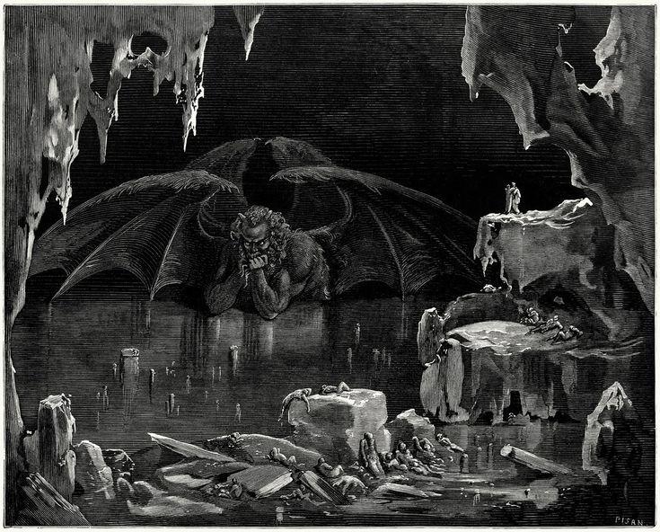 "Gustave Doré vision of ""Dante's Inferno"" by Dante Alighieri circa 1866."