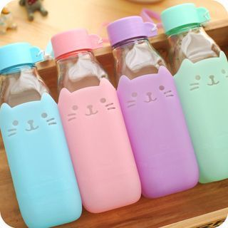 Buy Fun House Animal Print Water Bottle at YesStyle.com! Quality products at remarkable prices. FREE WORLDWIDE SHIPPING on orders over US$ 35. and like OMG! get some yourself some pawtastic adorable cat apparel!