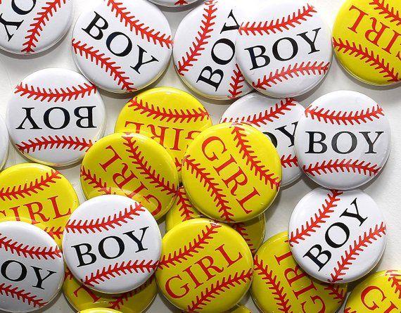100 Baby Shower 1 Pinbacks Baseball Boy Softball Girl Gender Reveal Party Favors In 2021 Baseball Gender Reveal Gender Reveal Baby Reveal Party Gifts
