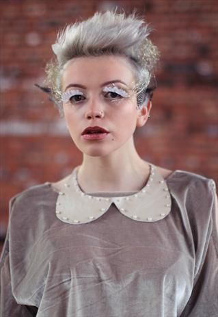 Pretty Disturbia Leather lace peterpan pearl collar necklace from Pretty Disturbia £5