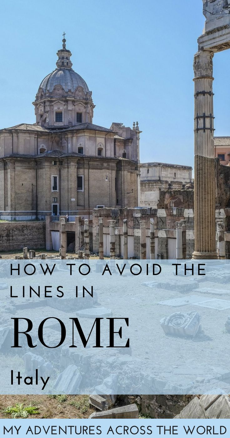 Spring is the perfect season to visit Rome - however, the city may feel crowded, and you may end up standing in line at attractions. Here's a few tips on what to do in Rome to avoid the lines | #rome #italy #beautifuldestinations