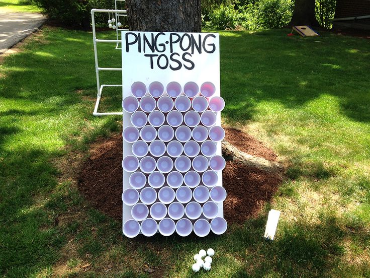A Carnival Themed Birthday Party: Ping Pong Toss Game