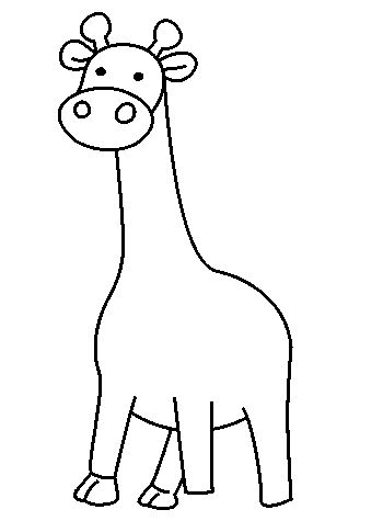 giraffe draw drawing animals step drawings lots easy giraffes animal steps clipartbest learn kidsfront