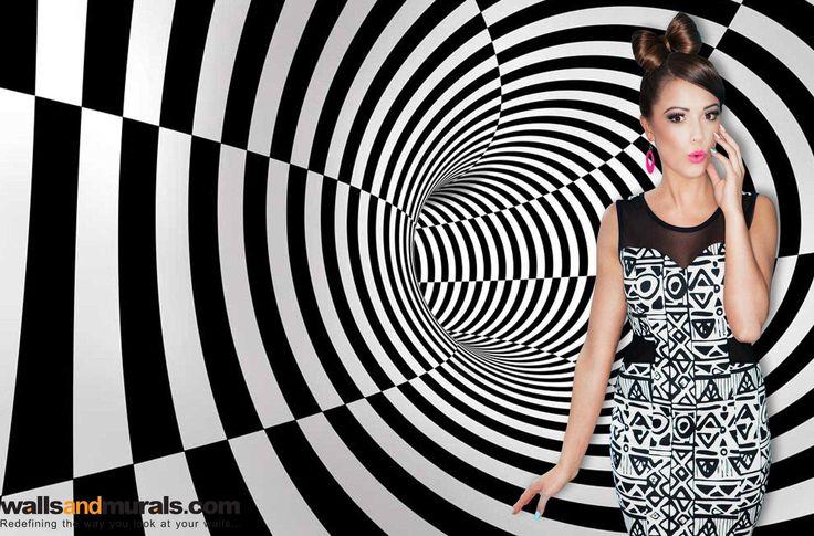 Geometric Tunnel 3D Wallpaper for Walls