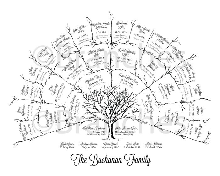 Perfect Mother's Day or Father's Day Gift! I know my parents would love this printable ancestry family tree. There is a 3, 4 or 5 Generation one available. #familyhistory #genealogy #gift
