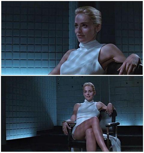 Sharon Stone at Basic Instinct (1992)