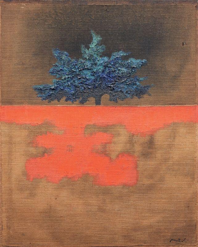 Carlo Mattioli - Paesaggio - Olio su tela