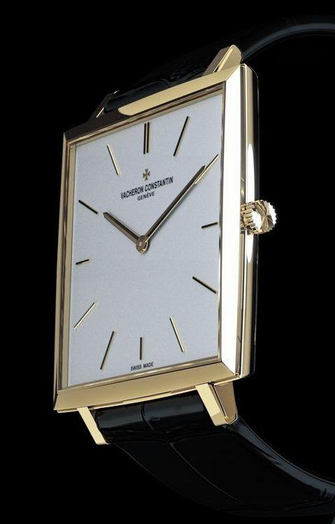 Vacheron Constantin Historique 1968 ultra-thin. 35.2 mm x 35.2 mm. Yellow Gold.