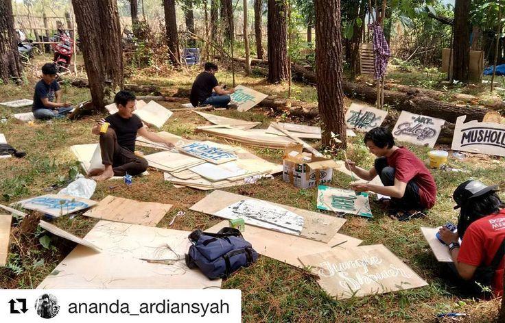 #Repost @ananda_ardiansyah (@get_repost)  @typography_makassar support Musik Hutan 2017