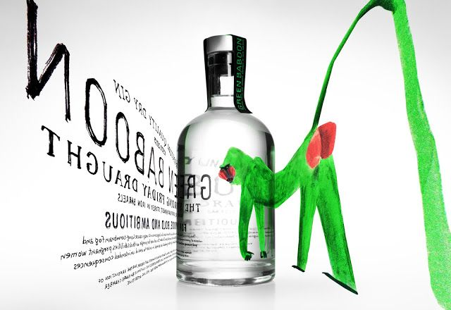 Green Baboon Dry Gin (Concept) on Packaging of the World - Creative Package Design Gallery