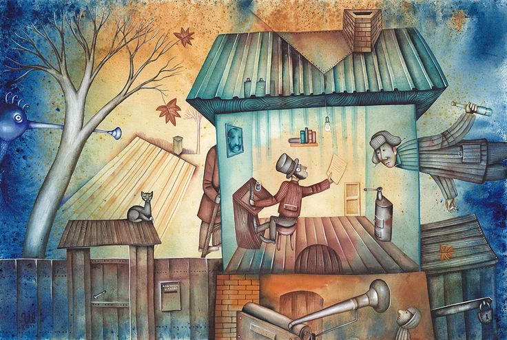Autumn by Eugene Ivanov #alexander #pushkin  #eugeneivanov #author #literature #russia #russian #writer #caricature #cartoon #literary_arts #russian_writer #@eugene_1_ivanov
