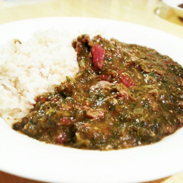 北アフリカのスーダン共和国のモロヘイヤとトマトを使った料理『ムルヒア』 我が家ではカレーに分類されますw - 14件のもぐもぐ - スーダン料理『ムルヒア』 by Makoto Hashimoto