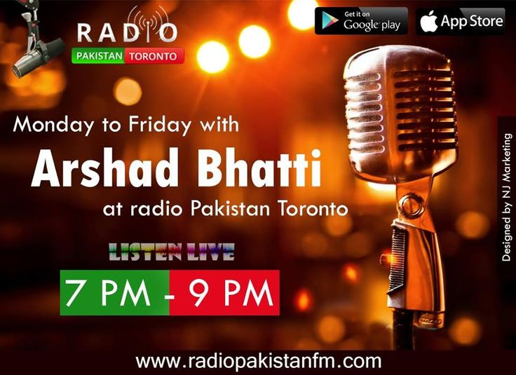 "Log on to http://www.radiopakistan.fm/ and Enjoy Quality Entertainment 24/7. *** Listen on your Smartphone by Downloading our app: Android Device @ https://goo.gl/tq1VDm iPhone @ http://goo.gl/TQlv2G Tunein - ""Radio Pakistan Toronto"" or Simply Search ""Radio Pakistan Toronto"" in the app store! *** **** Listen by Calling ***  TORONTO: (647) 957 9649 USA: (712) 832-8026  U.K: (330) 606-0949  Australia: (028) 072-5100 Have a Request or a Suggestions then feel free to call 416-593-0003!"