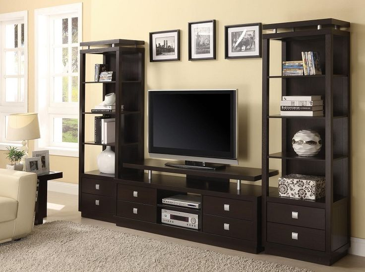 Rich Cappuccino Entertainment Center