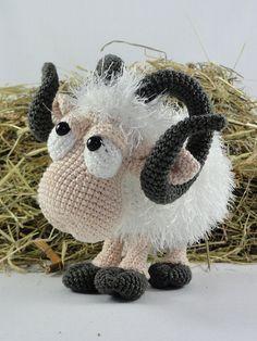 Amigurumi Crochet Pattern Rambert the Ram by IlDikko on Etsy