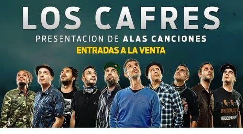 Los Cafres presentan su nuevo álbum de estudio Alas Canciones   Los Cafres estarán presentando oficialmente su nuevo álbum de estudio Alas Canciones el sábado 20 de mayo a las 20:00hs PUNTUAL en Museum Live  Perú 535. En el mes de septiembre de 2016 la banda editó Alas Canciones el flamante disco cuenta con 15 nuevas canciones luego de 5 años de la edición de El Paso Gigante y está disponible en Argentina con distribución en Uruguay Bolivia Paraguay y Chile como así también en todas las…