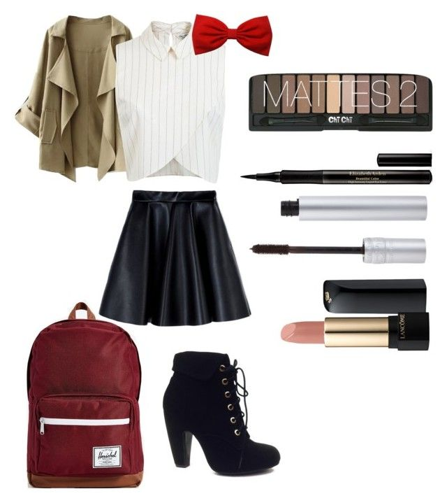 """Back2School Outfit (Wednesday)"" by secretkkpm on Polyvore featuring Sheridan, Bamboo, Miss Selfridge, MSGM, Herschel Supply Co., Lancôme, Elizabeth Arden and T. LeClerc"