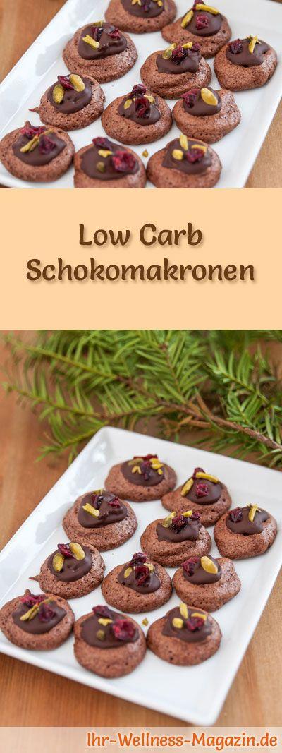Low-Carb-Weihnachtsgebäck-Rezept für Schokomakronen: Kohlenhydratarme, kalorienreduzierte Weihnachtskekse - ohne Getreidemehl und Zucker gebacken ... #lowcarb #backen #weihnachten