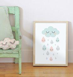 Affiche décorative - affiche pour décorer la chambre de bébé