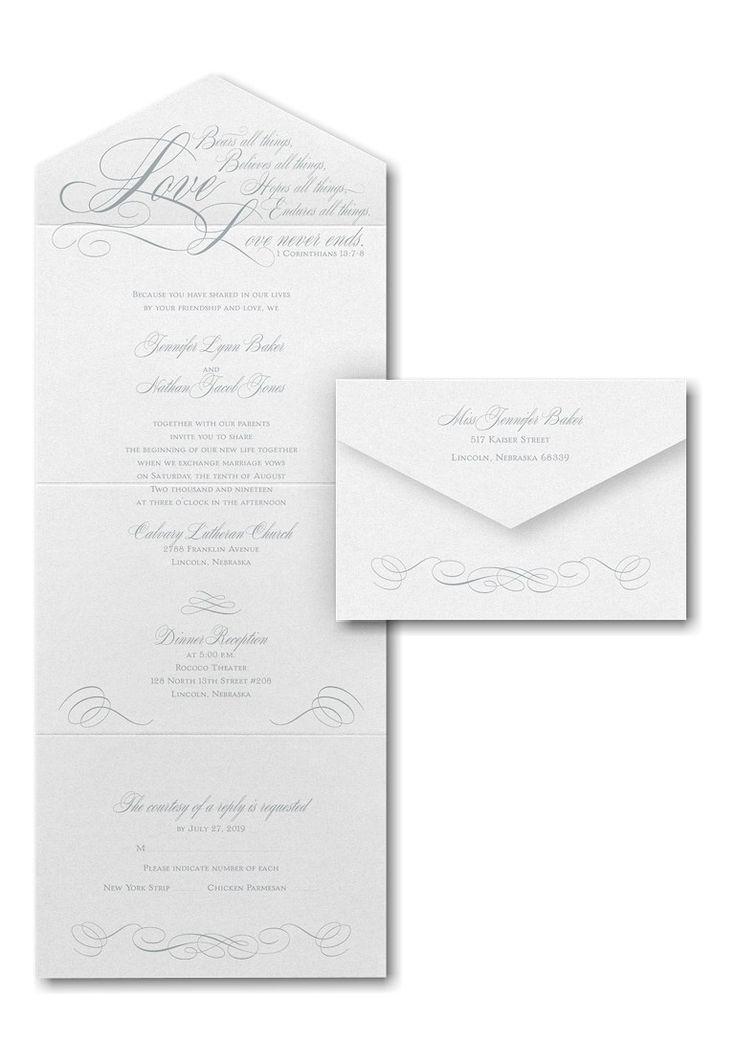 Love Never Ends Seal U0027n Send Wedding Invitation