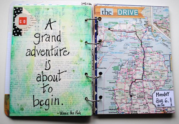 A grand adventure is about to begin... ;) U.P.-trip-page-spread-1 by marynbtol, via Flickr