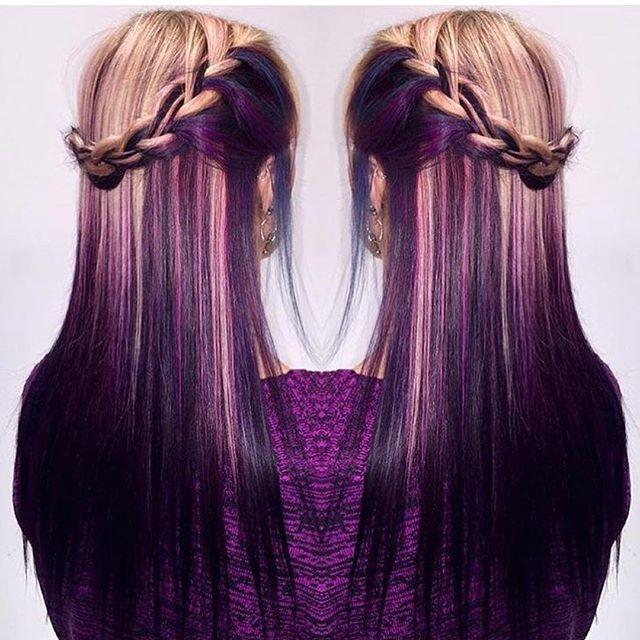 Grape Crush  a seriously amazing blonde to purple color melt by @beauty.byrachel #butterflyloft salon #hotonbeauty