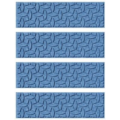 Aqua Shield Medium Blue 8.5 in. x 30 in. Ellipse Stair Tread (Set of 4)-20560561 - The Home Depot $60