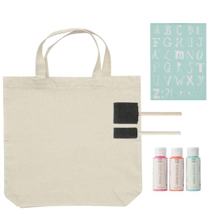 Ga aan de slag met verf en sjablonen, en maak je eigen tas! Bekijk alle producten van Hema op Reclamefolder.nl of download de app.