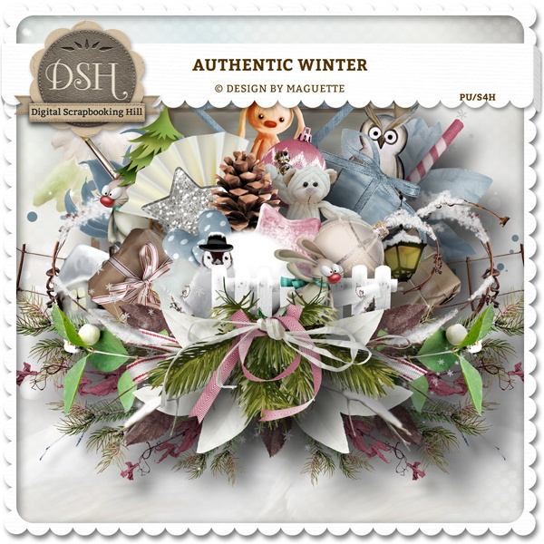 Authentic winter Kit (pu/s4h) by Maguette : DSH: Digital Scrapbooking Hill - high quality CU and PU elements, exclusive products, kits, freebies and more...