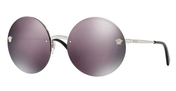 1c327ca719c263 Versace VE2176 10005R DARK GREY MIRROR PINKSILVER 210e   Lunettes    Pinterest   Dark grey, Versace and Gray