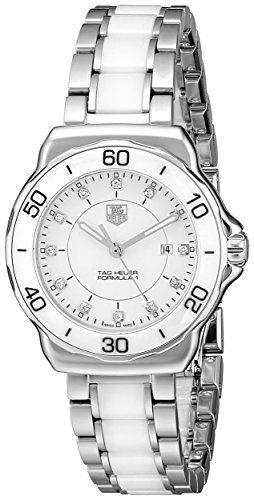#diamondwatchesforwomen #sportwatches Tag Heuer Women's WAH1315.BA0868 Formula 1 Stainless Steel Sport Watch with Diamonds Check https://www.carrywatches.com
