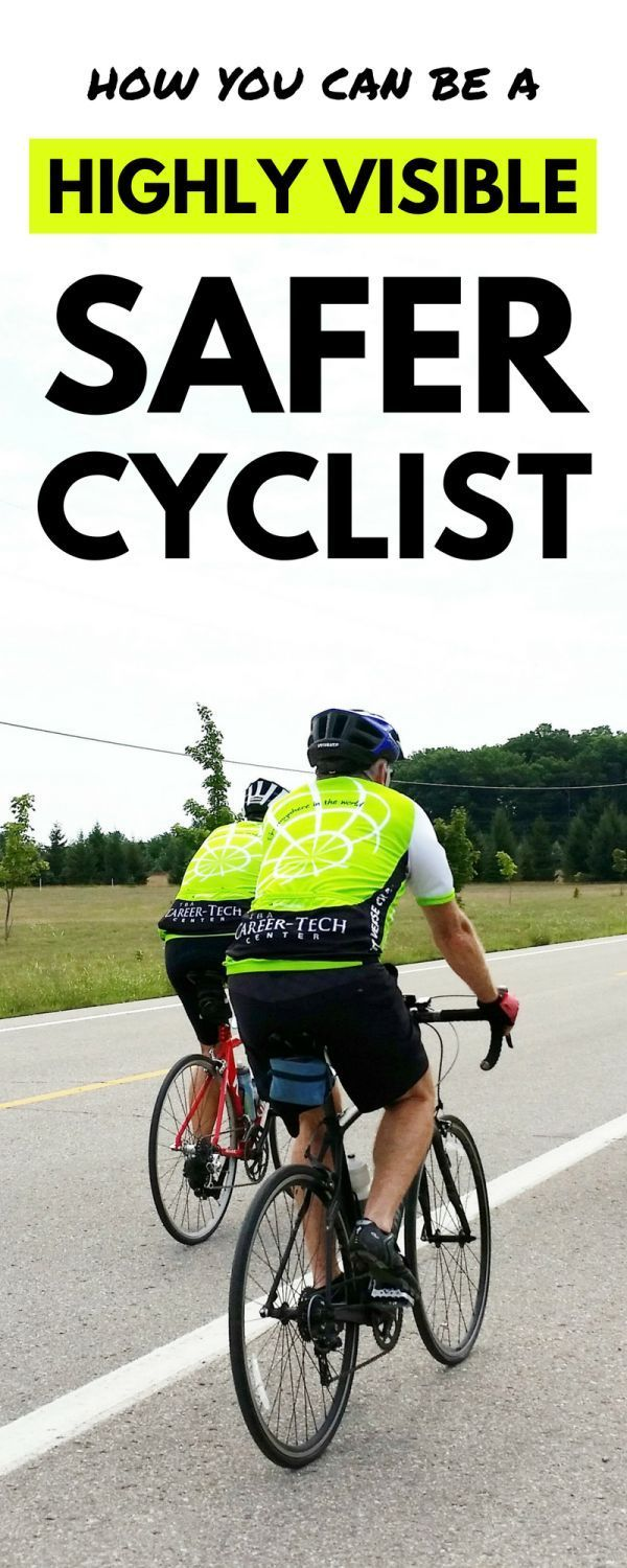 Cycling tips to be a safer cyclist wearing high visibility cycling clothes  for bike safety. Beginner s guide to cycling gear f050e0a77