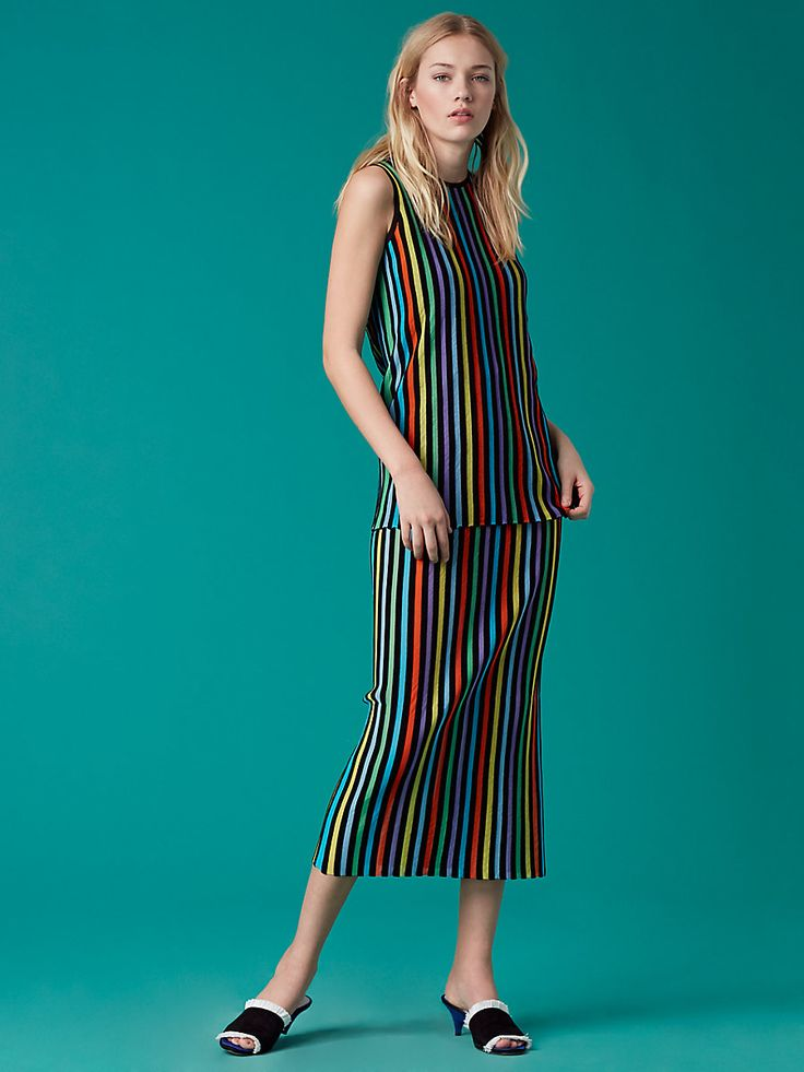 Two Tiered Knit Dress in Azuro Combo